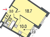 Квартиры,  Санкт-Петербург Комендантский проспект, цена 3 266 998 рублей, Фото