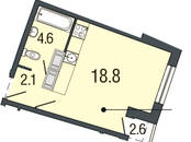Квартиры,  Санкт-Петербург Комендантский проспект, цена 3 276 470 рублей, Фото