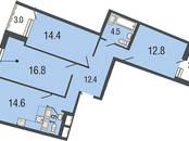 Квартиры,  Санкт-Петербург Комендантский проспект, цена 8 766 400 рублей, Фото