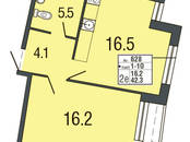Квартиры,  Санкт-Петербург Комендантский проспект, цена 4 888 019 рублей, Фото
