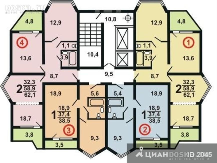 Планировка квартир серии п-44к. серия дома п-44к.