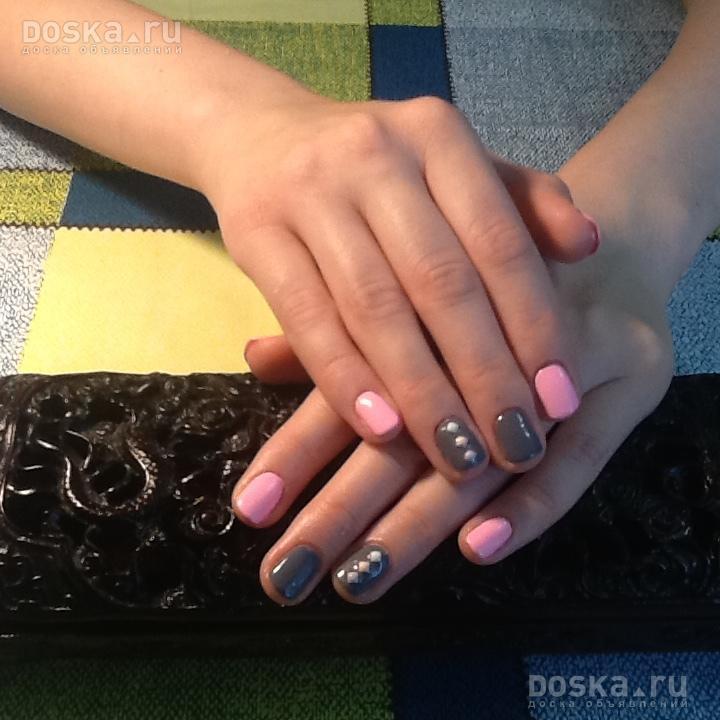Покрытие ногтей разными лаками
