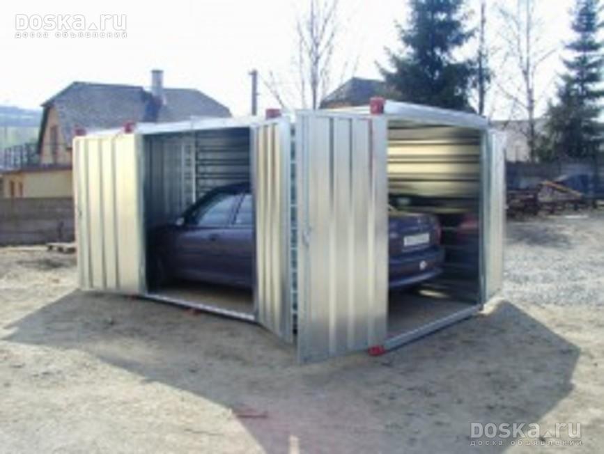 Как сделать гараж из контейнеров