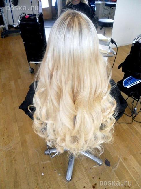 фото нарощенные волосы блондинка