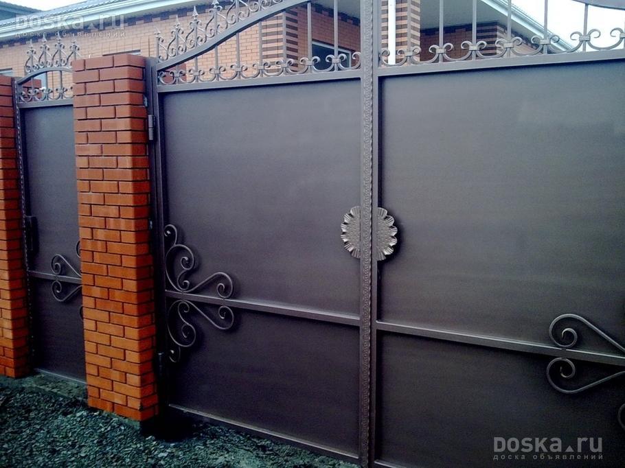 изготовление ворот дверей металлических