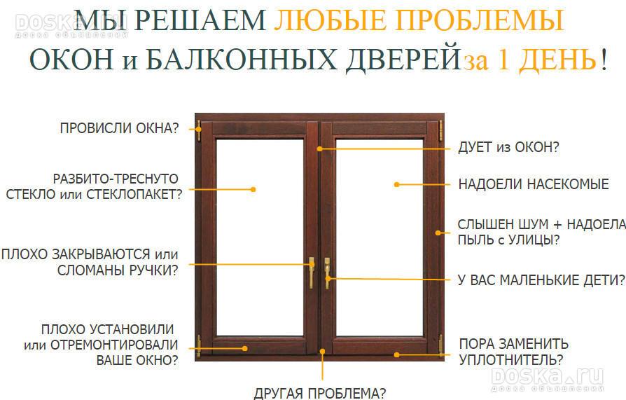 Ремонт пластиковых алюмениевых окон и дверей тверь.