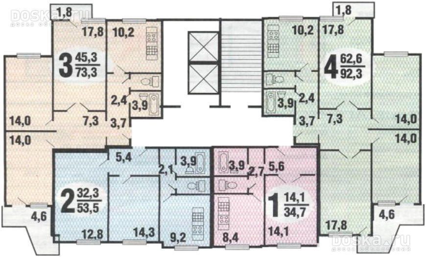 """Планировка квартир в домах серия п-3 """" квартиры сдать снять ."""