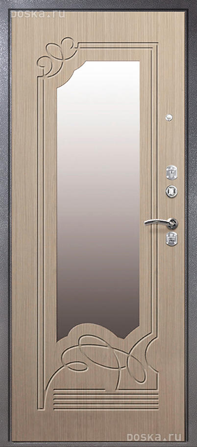 входный двери с зеркалом