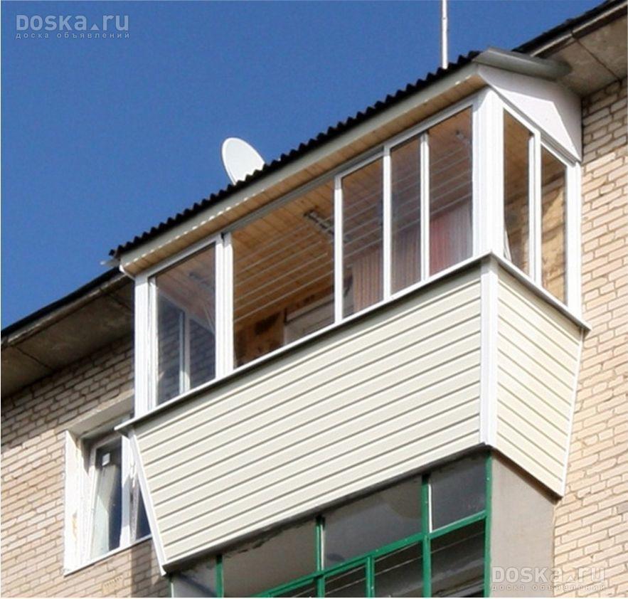 Остекление балконов с монтажом крыши на последних этажах, ст.