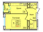 Квартиры,  Московская область Королев, цена 2 421 580 рублей, Фото