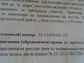 Земля и участки,  Приморский край Другое, цена 2 500 000 рублей, Фото